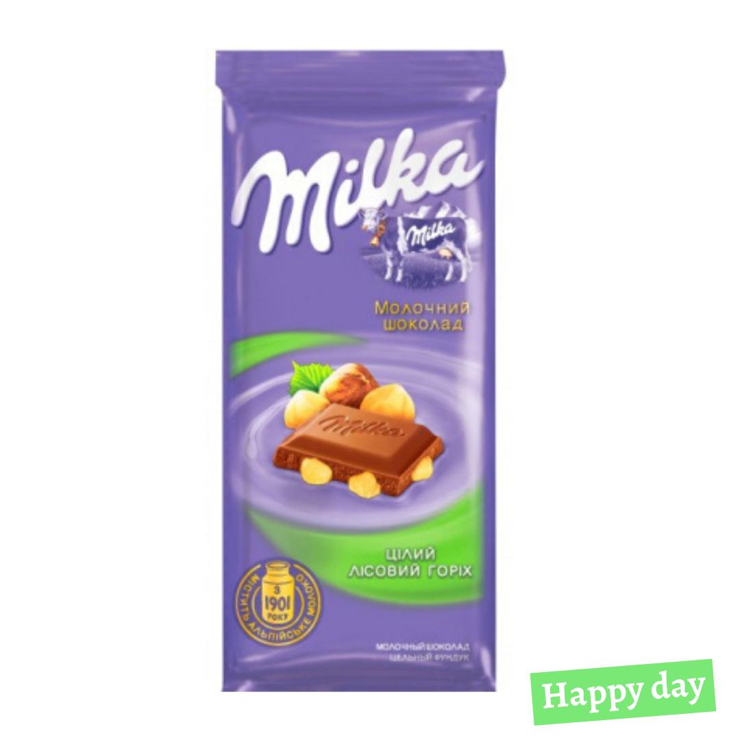 Milka нап.лесной целый орех 28*90г.