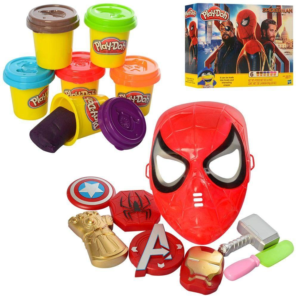 Набор для детской лепки из серии Мстителей с маской и элементами супергероев