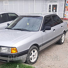 Дефлекторы окон (ветровики) клеющие / накладные Audi  80 4D 1986-1995  (B3/B4) 4шт (ANV)