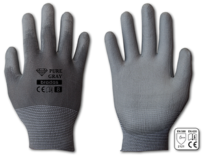 Перчатки защитные PURE GRAY полиуретан, размер 10, блистер, RWPGY10
