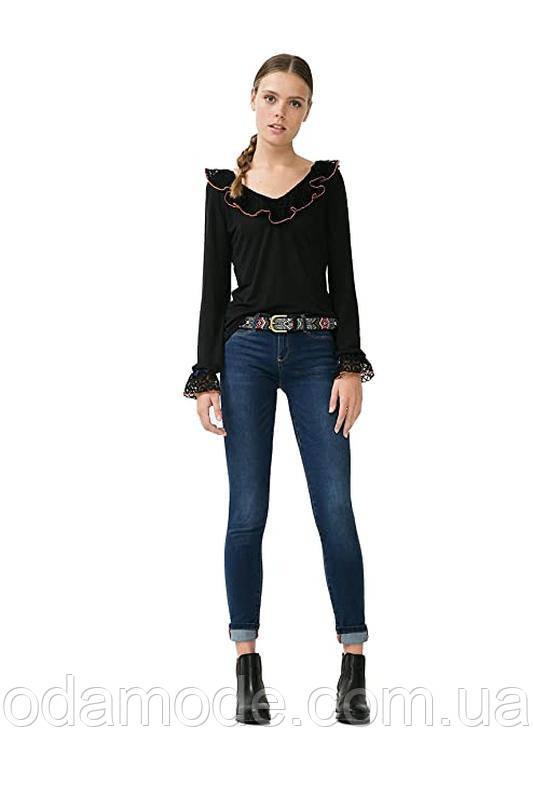 Блуза женская чёрная с воланамиDesigual