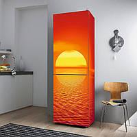 """Виниловая наклейка на холодильник """"Красный закат""""., фото 1"""