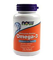Омега-3 поддержка сердца (Omega-3, 180 EPA/120 DHA) 100 капсул Now Foods