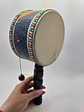 Барабан там-там бамбуковый ручной длина 27 см, фото 2