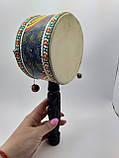 Барабан там-там бамбуковый ручной длина 27 см, фото 10