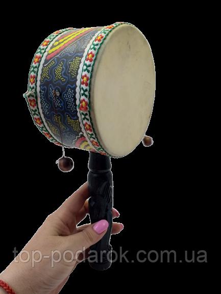Барабан там-там бамбуковый ручной длина 27 см
