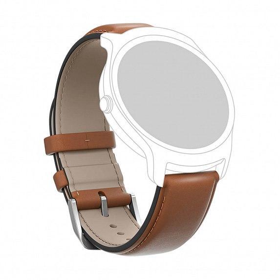Кожаный ремешок MOBVOI TicWatch E/C2 Leather Strap 20mm Brown