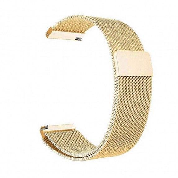 Металлический браслет для GARMIN Universal 20 Milanese Loop Metal Braselet Gold