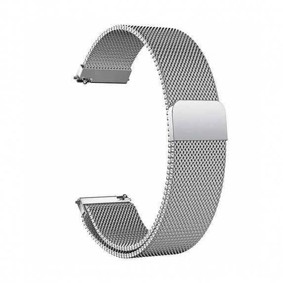 Металлический браслет для GARMIN Universal 20 Milanese Loop Metal Braselet Silver