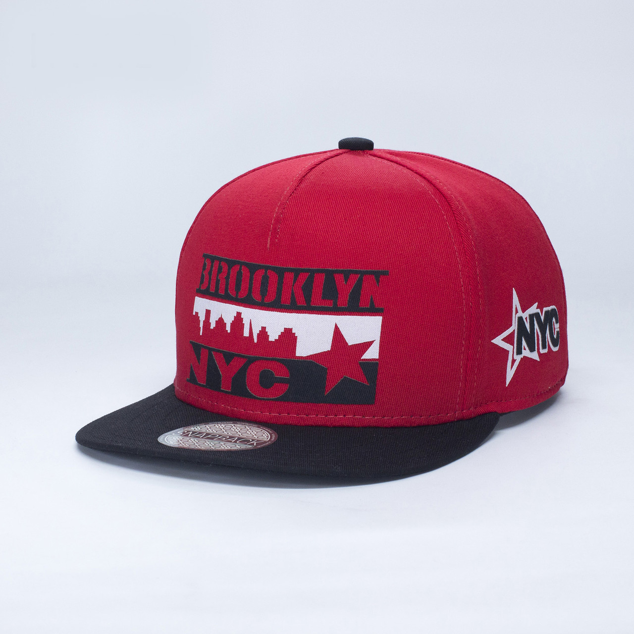 Детская кепка бейсболка для мальчика 3-16 лет INAL brooklyn nyc XS / 51-52 RU Красный 170151