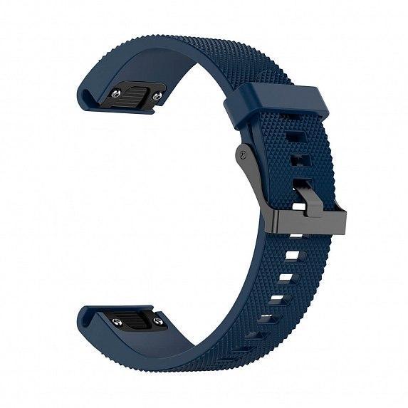 Силиконовый ремешок для GARMIN QuickFit 20 Dots Silicone Band Dark Blue