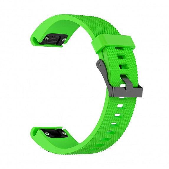 Силиконовый ремешок для GARMIN QuickFit 20 Dots Silicone Band Green