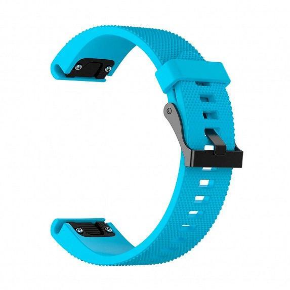 Силиконовый ремешок для GARMIN QuickFit 20 Dots Silicone Band Blue