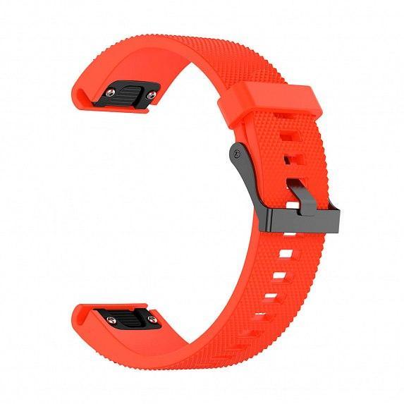 Силиконовый ремешок для GARMIN QuickFit 20 Dots Silicone Band Orange