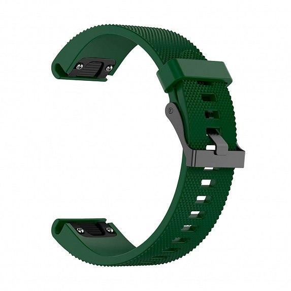 Силиконовый ремешок для GARMIN QuickFit 20 Dots Silicone Band Dark Green