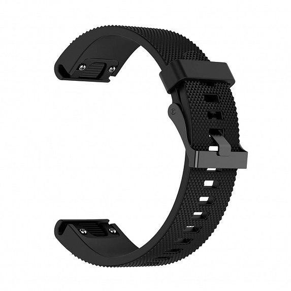 Силиконовый ремешок для GARMIN QuickFit 20 Dots Silicone Band Black