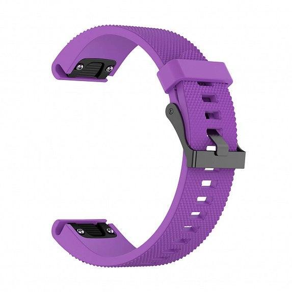 Силиконовый ремешок для GARMIN QuickFit 20 Dots Silicone Band Purple
