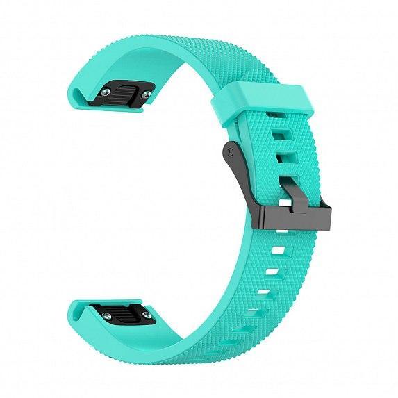 Силиконовый ремешок для GARMIN QuickFit 20 Dots Silicone Band Teal