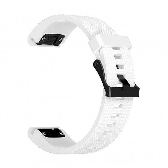 Силиконовый ремешок для GARMIN QuickFit 20 Dots Silicone Band White