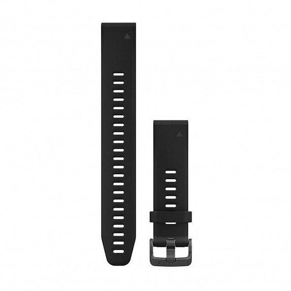 Силиконовый ремешок для GARMIN QuickFit 20 Smooth Silicone Band Black