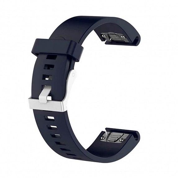 Силиконовый ремешок для GARMIN QuickFit 20 Smooth Silicone Band Dark Blue