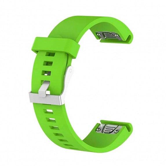 Силиконовый ремешок для GARMIN QuickFit 20 Smooth Silicone Band Green