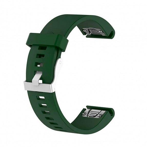 Силиконовый ремешок для GARMIN QuickFit 20 Smooth Silicone Band Dark Green