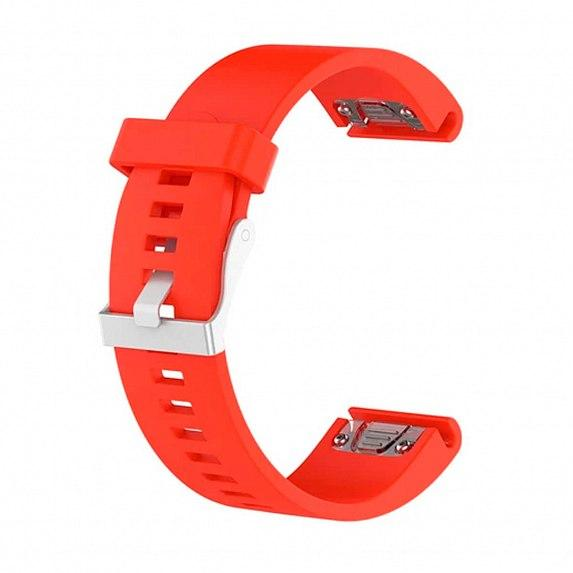 Силиконовый ремешок для GARMIN QuickFit 20 Smooth Silicone Band Orange