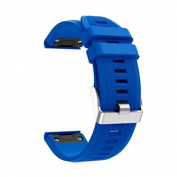 Силиконовый ремешок для GARMIN QuickFit 22 Dots Silicone Band Blue