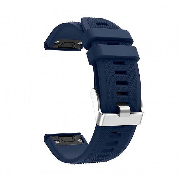 Силиконовый ремешок для GARMIN QuickFit 22 Dots Silicone Band Dark Blue
