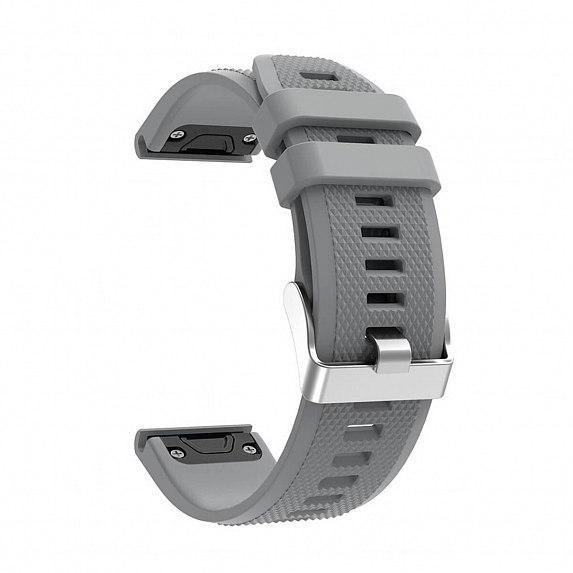 Силиконовый ремешок для GARMIN QuickFit 22 Dots Silicone Band Gray