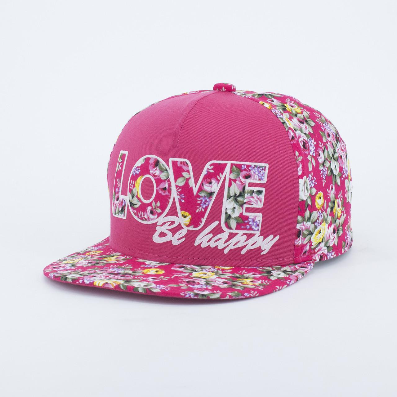 Детская кепка бейсболка для девочки INAL love XS / 51-52 RU Розовый 175651