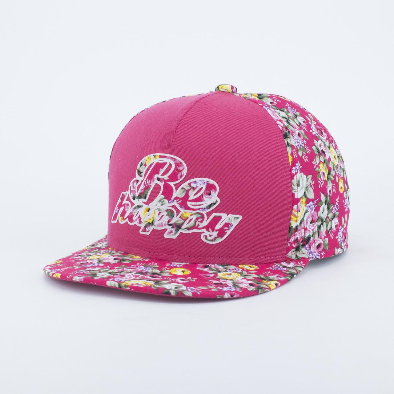 Детская кепка бейсболка для девочки INAL be happy XS / 51-52 RU Розовый 175851