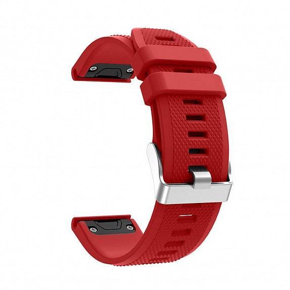 Силиконовый ремешок для GARMIN QuickFit 22 Dots Silicone Band Red
