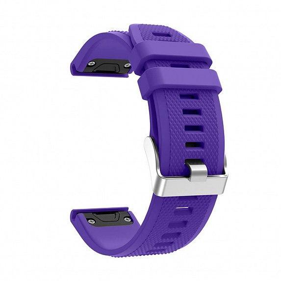 Силиконовый ремешок для GARMIN QuickFit 22 Dots Silicone Band Purple