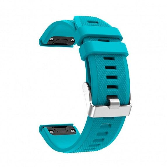 Силиконовый ремешок для GARMIN QuickFit 22 Dots Silicone Band Teal
