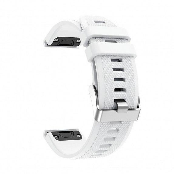 Силиконовый ремешок для GARMIN QuickFit 22 Dots Silicone Band White