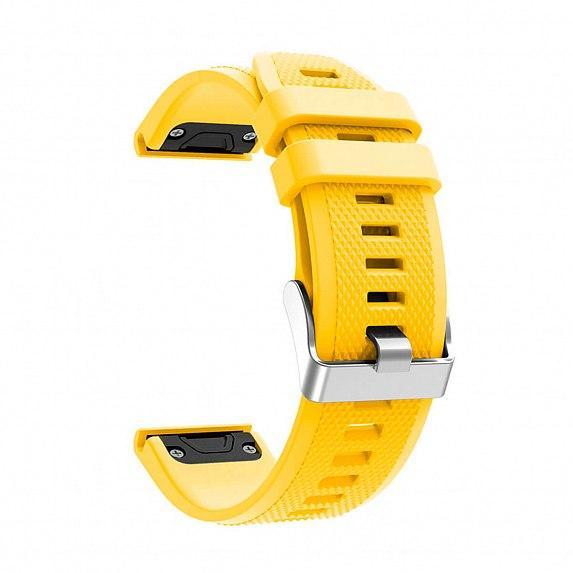 Силиконовый ремешок для GARMIN QuickFit 22 Dots Silicone Band Yellow