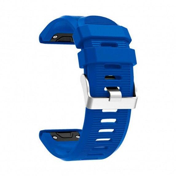Силиконовый ремешок для GARMIN QuickFit 26 Srtiped Silicone Band Blue