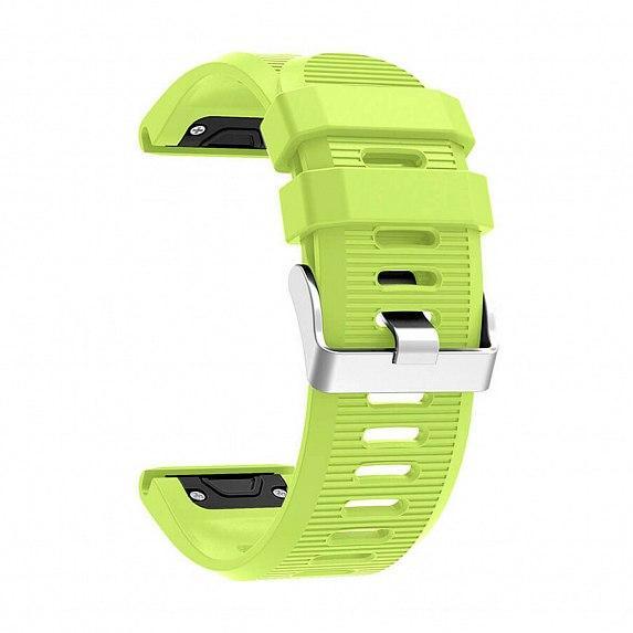 Силиконовый ремешок для GARMIN QuickFit 26 Srtiped Silicone Band Green
