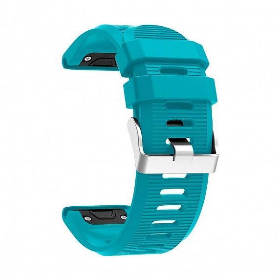 Силиконовый ремешок для GARMIN QuickFit 26 Srtiped Silicone Band Lite Blue