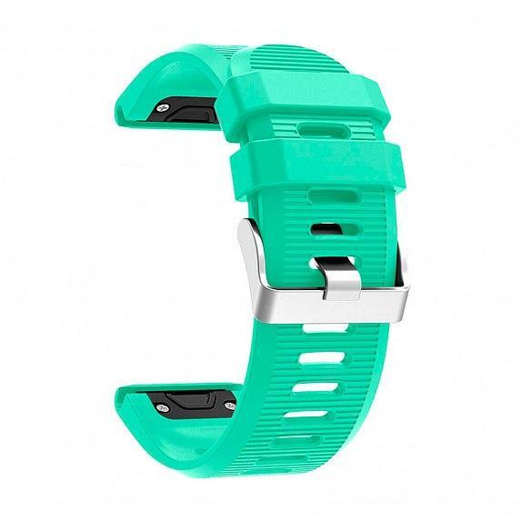 Силиконовый ремешок для GARMIN QuickFit 26 Striped Silicone Band Teal