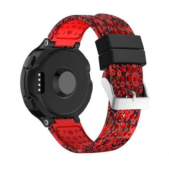 Силиконовый ремешок для GARMIN Universal 16 Camouflage Silicone Band Red
