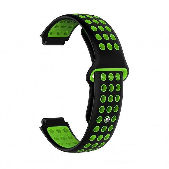 Силиконовый ремешок для GARMIN Universal 16 Nike-style Silicone Band Black/Green