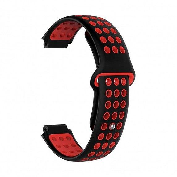 Силиконовый ремешок для GARMIN Universal 16 Nike-style Silicone Band Black/Red
