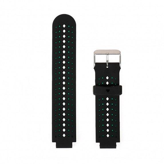 Силиконовый ремешок для GARMIN Universal 16 2Colors Silicone Band Black/Teal