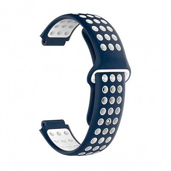 Силиконовый ремешок для GARMIN Universal 16 Nike-style Silicone Band Blue/White