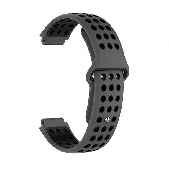 Силиконовый ремешок для GARMIN Universal 16 Nike-style Silicone Band Gray/Black