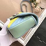 Сумка, клатч Гуччи Marmont натуральная кожа  25 см, фото 2