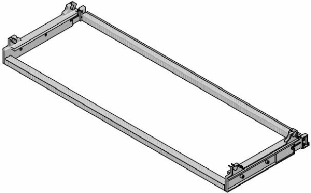 Рaмкa для сушки  Inoxa  700мм (664х280/330х71мм), aлюмий/плaстик